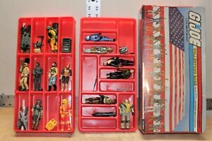 Vintage 1984 Hasbro GI Joe ARAH Action Figure And Accessories Lot With Case
