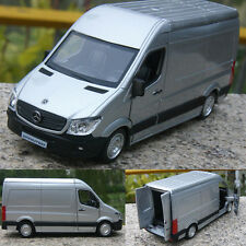 "New Mercedes Benz Sprinter Van 5"" Silver Alloy Diecast model car Open three door"