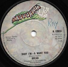 BREAD - BABY I-M-A WANT YOU / TRUCKIN' - ORIGINAL 70s CLASSIC ROCK POP BALLAD