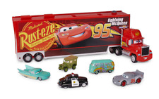 "DISNEY PIXAR CARS MACK CARRIER WITH 5 DIECAST CARS 1:43 SCALE BRAND NEW 24"" LONG"