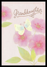 113-Gc Butterfly Flower *Granddaughter* Birthday Greeting Card Hallmark