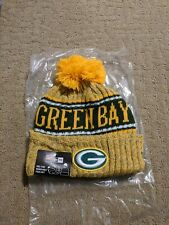 deab3712871 New Era Green Bay Packers 2018 Sideline Winter Yellow Adult Knit Beanie Hat