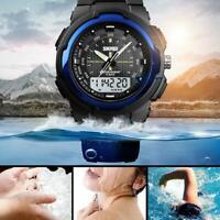 SKMEI Analog Digital Herren Armband Uhr Chronograph Dualtimer wasserdichte LZ