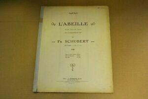 partition SCHUBERT L'ABEILLE pour VIOLON et PIANO OP 13 N°9 acc piano