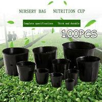 100pcs Plants raising Bag Nursery Flowers Pot Pouch Potted Plant Grow Supply