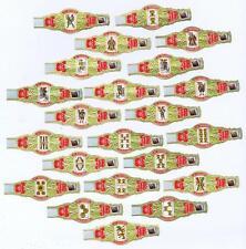Spanish playing cards M.P. Garcia Mexico  24 cigar bands vitolas Bauchbinden 20