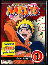 Naruto - Vol. 1: Enter Naruto (DVD, 2006, Edited)-Naruto Poster Inside!