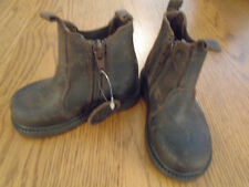 NWT toddler boy brown leather boots - size 5. M&S. RRP £30