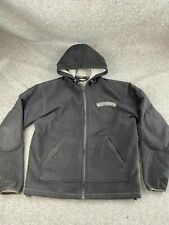 HARLEY DAVIDSON MEN SIZE LARGE BLACK FULL ZIP FLEECE SOFT SHELL JACKET EUC