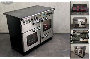 Rangemaster Proffesional 110 All Electric Ceramic RANGE COOKER Stainless (1u18)