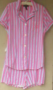 Ralph Lauren Striped Cotton Knit Pajamas  XL