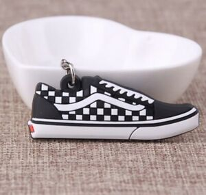 *UK* Vans Checkered Silicon Keyring/ Keychain Casual Shoes Unisex Trainers White
