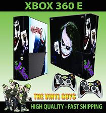 XBOX 360 E THE JOKER WHY SO SERIOUS BATMAN SKIN SUPERSLIM  & 2 PAD SKIN