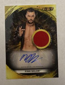 2020 Topps WWE NXT FINN BALOR Gold Shirt Relic AUTO 1/10