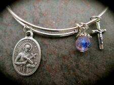 Saint Gerard Adjustable Bangle Bracelet Fertility and Motherhood bracelet Cross