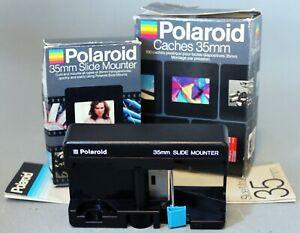 POLAROID 35mm SLIDE MOUNTER + 30 x SLIDE MOUNTS in original boxes + instructions