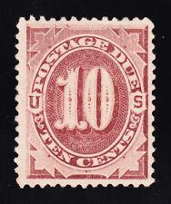 US J19 10c Postage Due Mint VF OG LH w/ PF Certs SCV $600