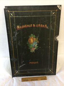 Antique Floor Safe Iron Door Panel Hand Painted MacNeale & Urban Patent
