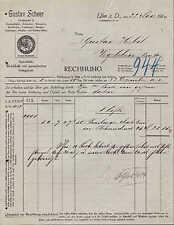 ULM a. D., Rechnung 1913, Käse-Großhandel Gustav Scheer - Emmenthaler, Limburger