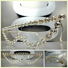 Classy Exotic RETRO CAT EYE Style Clear EYE GLASSES Gold Frame Bling Crystals