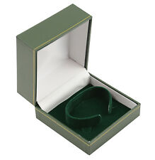 Jewellers Watch Boxes 10 x Green Leatherette Watch Bangle C-Clip Jewellery Boxes