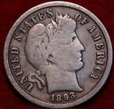 1893-S San Francisco Mint Silver Barber Dime