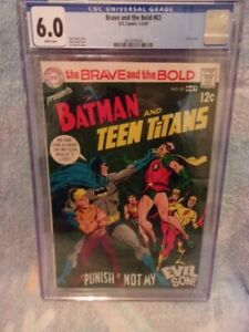 The Brave and The Bold # 83 CGC 6.0 FN DC Comics May /1969 Batman/Teen Titans