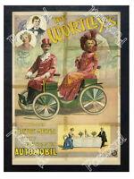 Historic The Wortley's electric musical Automobil, 1896 Advertising Postcard