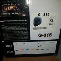 GLX Helmets G-315 Full Face Helmet XL Gloss Black  FREE SHIPPING