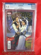 Marvel Star Wars #1 CGC 9.8 Pichelli Variant Cover 3/15 WHITE PAGES