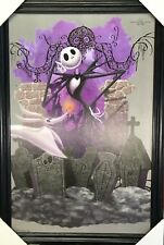 Disney Nightmare Before Christmas 25th Anniversary Wood Framed Textured Picture