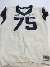 Game Worn Used Nike Tcu Horned Frogs Football Jersey #75 Size 48