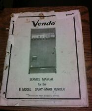 Vendo B Model Dairy-Mart Vender Pinball Machine Service Manual - used original