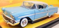 Ertl 1/18 Scale Model Car 32286 - 1958 Chevy Impala - Light Blue