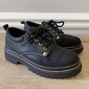 Skechers Women's Oxford Platform Chunky Tough Shoes Size 6 Style 7914 Black