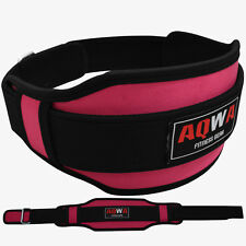 AQWA Weight Lifting Training Gym Belt Back Support Power Women Fitness, Pink