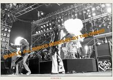 LED ZEPPELIN PHOTOS 1975 8x12 EARLS CT w. SMOKE IN AIR STAGE hi qual paper