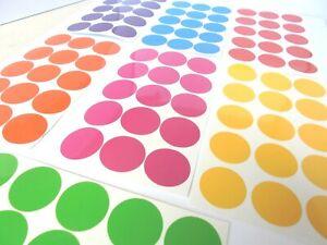POLKA DOTS  RAINBOW 105 Stickers Vinyl self adhesive/Circles BUY 2, 3RD FREE