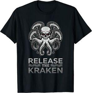 Ancient Greek Mythology Release the Kraken Skull Funny Gift T-Shirt Size S -5XL