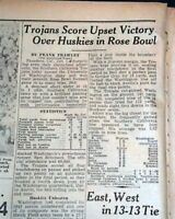 Best GEORGIA TECH Yellow Jackets Wins Sugar Bowl College Football 1944 Newspaper