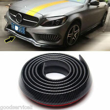 Car 2.5M Carbon Fiber Strip Protector Front Bumper Lip Splitter Spoiler Skirt