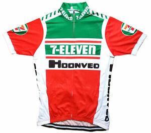 7 ELEVEN RETRO VINTAGE CYCLING TEAM BIKE CYCLE SHORT SLEEVE JERSEY -  XXXL