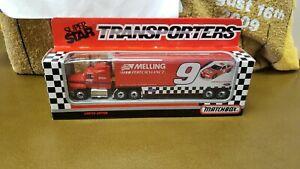 NIB BILL ELLIOTT MELLING #9 RACING NASCAR SUPER STAR TRANSPORTER 1/87 MATCHBOX