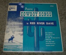 """Popular Cowboy Songs Red River Dave~RARE Country Western 10""""~FAST SHIPPING!!!"""