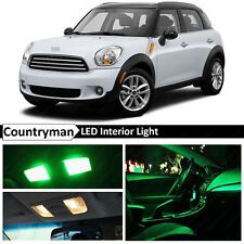 15x Green LED Light Interior Package Kit Fit 2011-2014 MINI Cooper Countryman S