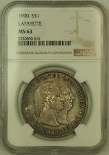1900 Lafayette Commemorative Silver Dollar $1 NGC MS-63 Toned (KH)