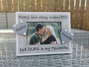 Personalised Anniversary Photo Picture Frame. Boyfriend, Girlfriend Love Wedding