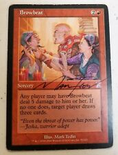 SIGNED Browbeat -MP- Judgement MTG Red Uncommon SIGNED SEE IMAGES LC-A