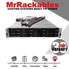 Supermicro 2U 12 Bay 2 Node Server Intel Xeon 16 Core 2.53GHz 48GB Rail Kit 2xPS