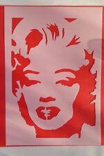Stencil 1034 MARILYN MONROE VINTAGE stanzschablone SHABBY Muro Tatuaggio Stencil